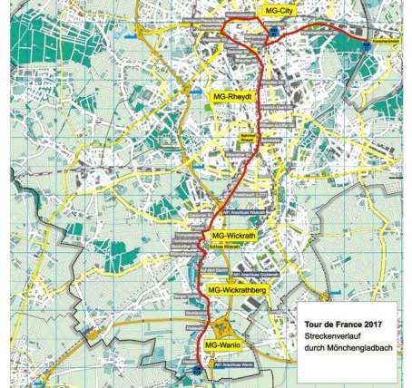 Tour De France 2017 über 20 Km Durch Mönchengladbach Mg Heute